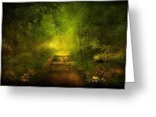 Welcome Path Greeting Card by Svetlana Sewell
