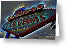 Welcome to Las Vegas Greeting Card by Kevin Moore