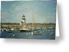 Welcome To Nantucket Greeting Card by Kim Hojnacki