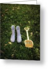 Wellingtons And Shovel Greeting Card by Joana Kruse