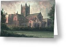 Wells Cathedral Greeting Card by Paul Braddon