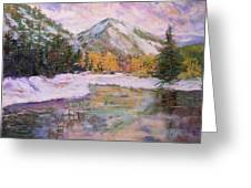 Wenatchee River Snowfall Greeting Card by James Geddes