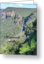 Wentworth Falls Greeting Card by Carla Parris