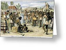 WEST INDIES: SLAVERY, 1833 Greeting Card by Granger