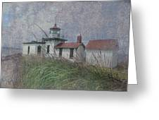 West Point Lighthouse - Seattle Greeting Card by Jeff Burgess