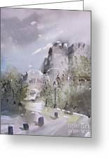 West Point Thayer Road Greeting Card by Sandra Strohschein