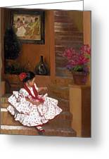 Western Grace Of Good Cheer    Mexico    From The Three Graces Of The West Greeting Card by Anna Bain