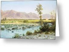 Western Landscape Greeting Card by Albert Bierstadt