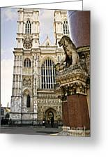 Westminster Abbey Greeting Card by Elena Elisseeva