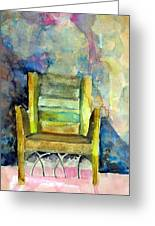 Westminster Abbey Queen Chair Greeting Card by Mindy Newman