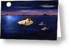 Wet Dreams Greeting Card by Leah Saulnier The Painting Maniac