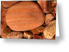 Wet River Rocks Along Salt River Shore Greeting Card by Max Allen