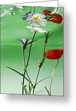Wet Wild Flower Greeting Card by Han Van Vonno