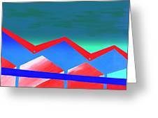 Wexler Folded Roof Eight Greeting Card by Randall Weidner