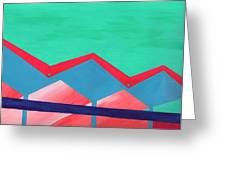 Wexler Folded Roof Seven Greeting Card by Randall Weidner