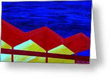 Wexler Folded Roof Six Greeting Card by Randall Weidner