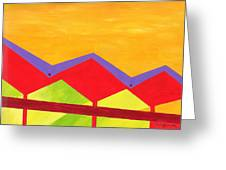 Wexler Folded Roof Three Greeting Card by Randall Weidner