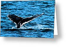 Whale Dip Greeting Card by Karol  Livote