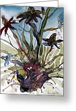 Whats In Your Garden Greeting Card by Mindy Newman
