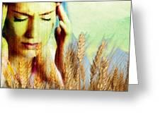 Wheat Allergy Greeting Card by Hannah Gal