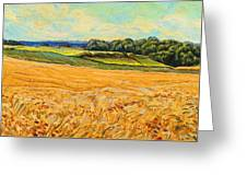 Wheat Field In Limburg Greeting Card by Nop Briex