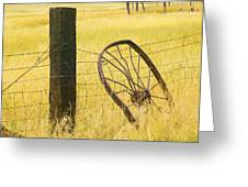 Wheel Looking For A Tractor Greeting Card by Rich Franco