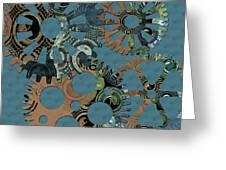 Wheels Greeting Card by Bonnie Bruno