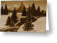 When It Snowed In The Mountains Greeting Card by Barbara Griffin