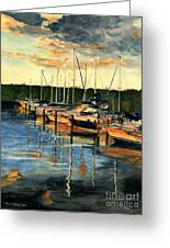 When The Evening Come Greeting Card by Melly Terpening