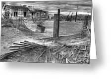Where Does The Story End Monochrome Greeting Card by Bob Christopher