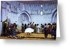 Whirling Dervishes Greeting Card by Pg Reproductions