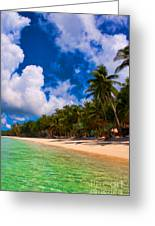 White Beach Boracay Greeting Card by Joerg Lingnau