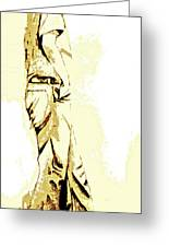 White Boy Standing On Table Greeting Card by Sheri Parris