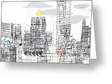 White City Greeting Card by Andy  Mercer