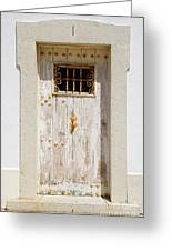 White Door Greeting Card by Carlos Caetano
