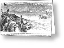 White River Attack, 1879 Greeting Card by Granger