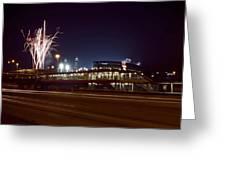 White Sox Homer Fireworks Greeting Card by Sven Brogren