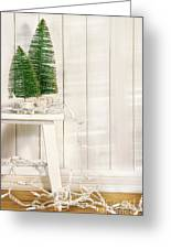 White Tree Lights  Greeting Card by Sandra Cunningham