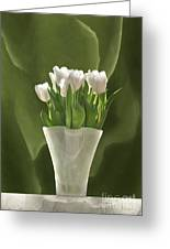 White Tulips Greeting Card by Johnny Hildingsson