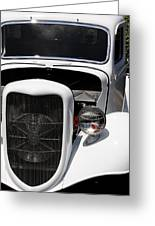 White Vintage Car Greeting Card by Julian Bralley