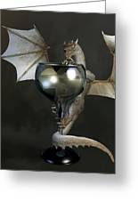 White Wine Dragon Greeting Card by Daniel Eskridge