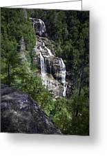Whitewater Falls Greeting Card by Rob Travis