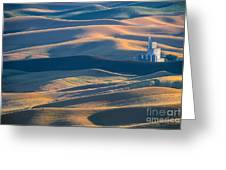 Whitman County Grain Silo Greeting Card by Sandra Bronstein