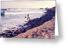 Why We Surf Greeting Card by Ron Regalado