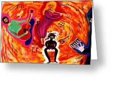 Wild Music Greeting Card by Eliezer Sobel