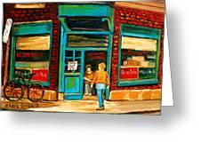 Wilensky's Restaurant Greeting Card by Carole Spandau