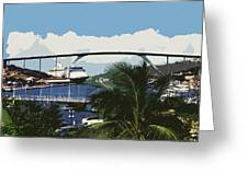 Willemstad - Curacao Greeting Card by Juergen Weiss