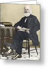 William Cullen Bryant, American Poet Greeting Card by Science Source