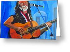 Willie Nelson Greeting Card by Jayne Kerr