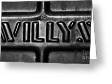 Willys Emblem Greeting Card by Juls Adams